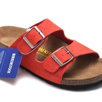 Men's and Women's BIRKENSTOCK sandals Arizona Soft Footbed Suede Leather 632632288-089