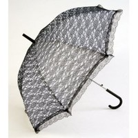 Forum Novelties - Goth Victorian Vampire Umbrella Black Lace Parasol