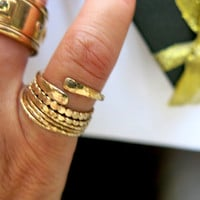 Gold Ring - Stackable Ring - Gold Filled - Pinky Ring - Handmade - Modern - Urban Look Ring - Venexia Jewelry by Dany B