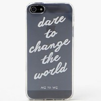 Me To We Dare To Change iPhone 5/5s - Womens Scarves - White - One