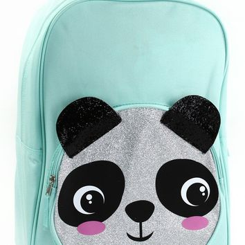 "Fall Back To School Panda Glitter 17"" Backpack"
