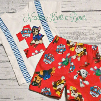 Boys Paw Patrol Birthday Outfit, Boys First Birthday Outfits, Cakesmash, Boys 2nd, Second Paw Patrol Birthday Outfit