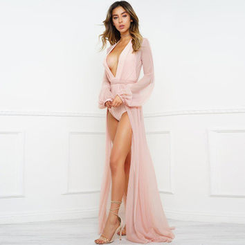 See-Through Mesh Sexy Erotic One Piece Dress _ 13438