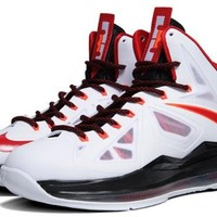 "Nike Lebron X ""HOME"" Mens Basketball Shoes 541100-100, 10"