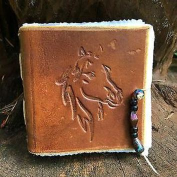 Medieval Leather Notebook Handmade. Horse, Rohan Version, Medieval, Viking, Celtic, SCA