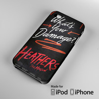 Heathers What's Your Damage - Broadway Musical A0630 iPhone 4S 5S 5C 6 6Plus, iPod 4 5, LG G2 G3, Sony Z2 Case