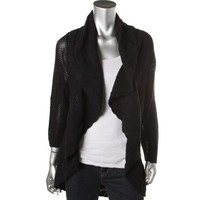 Style & Co. Womens Cotton Long Sleeves Cardigan Sweater