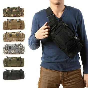 Outdoor Sport Travel Bag Military Tactical Backpack Rucksack Waist Pack Cosplay