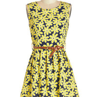 ModCloth Vintage Inspired Mid-length Sleeveless A-line 100% Pure Loveliness Dress