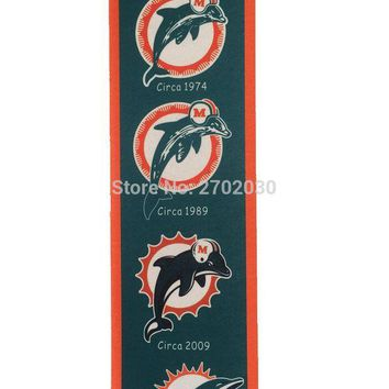 DCCKH6B Miami Dolphins Baseball Team San Francisco Giants Rectangle Heritage Flags Banners With String Felt Pennats 20*81cm