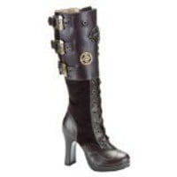 4 Inch Sexy Knee High Boots Gothic Steampunk Boots Theatre Costumes Boots Brown | SummitFashions