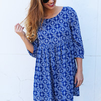 The Forgotten Printed Babydoll Dress