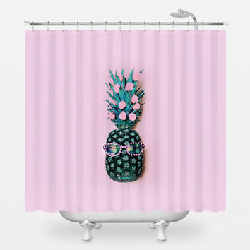 Silly Lil Pineapple Shower Curtain