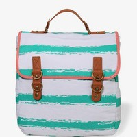 Abstract Striped Backpack