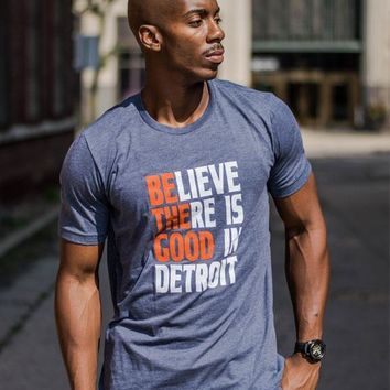 Detroit Respect Be the Good Tee - Heather Navy