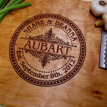 Personalized Cutting Board, CHERRY Cutting Board - Any Occasion Gift, Wedding Gift - Anniversary Gift - Engraved Wood Cutting Board
