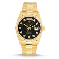 18K Yellow Gold Rolex Oyster Perpetual Day-Date 36mm Watch
