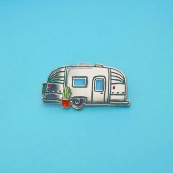 Airstream Camping Enamel Pin