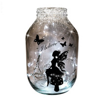 Hand painted magical & dreamy candle holder / lantern.....MADE TO ORDER.