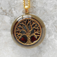 tree of life necklace: brown - unique gift - celtic jewelry - nature necklace - tree necklace - wiccan jewelry - spiritual jewelry