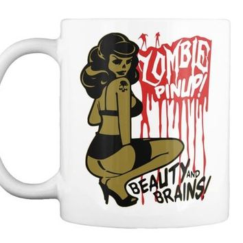 Zombie Pin Up Coffee Mug