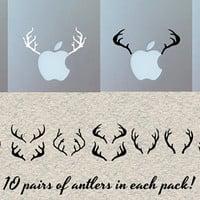 Macbook sticker 10x fun antler. Die cut vinyl decal for Macbook Air and Pro and Retina display 007