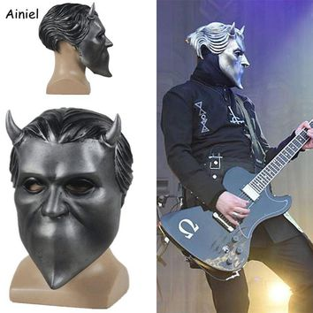 Cool Adult Ghost Bc Band Nameless Ghoul Latex Mask Cosplay Costume Funny Scary Full Face Masks Prop Halloween Party for Men WomenAT_93_12