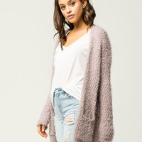 WOVEN HEART Nubby Knit Womens Cardigan
