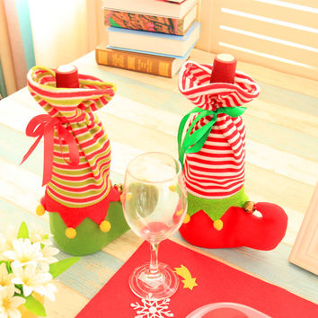 Christmas Decoration Gifts Wine Bottle Bags [9199619972]
