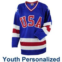 Miracle on Ice® 1980 Replica Personalized Away Jersey - Youth - ShopUSAHockey.com