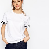 ASOS T-shirt With Stripe Sleeve