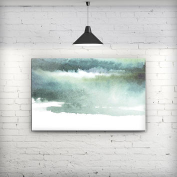 Greenish Watercolor Strokes - Fine-Art Wall Canvas Prints