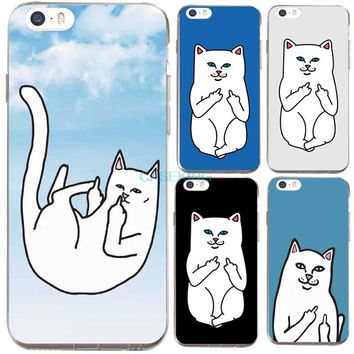 Ripndip Pocket Cat Cartoon Design Silicone Soft iPhone Case