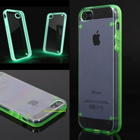 Glow In The Dark Luminous Fluorescence Hard Back Cover Case For iPhone 4G 5S 5C = 1698054916