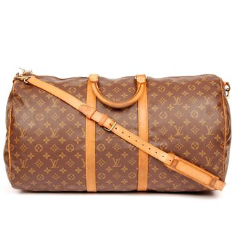 Louis Vuitton Bandouliere Keepall 55 W/ Strap 4250 (Authentic Pre-owned)