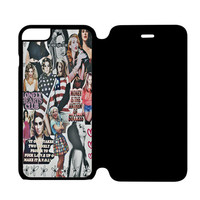 Lana Del Rey and Marina the Diamonds Photo Collage iPhone 6S Flip Case Cover