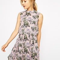Oasis Pretty Floral Print Fit and Flare DRess