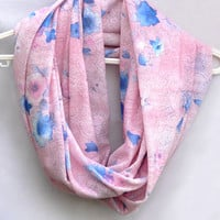 Pink Infinity Scarf. Tube Scarf. Eternity Scarf. Women Accessories