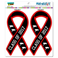 Class Of 2017 Ribbon Awareness - Graduation MAG-NEATO'S TM Car-Refrigerator Magnet Set