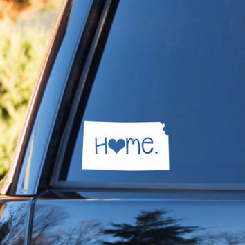 Kansas Home Decal | Kansas State Decal | Homestate Decals | Love Sticker | Love Decal  | Car Decal | Car Stickers | Bumper | 056