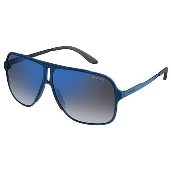 Carrera - 122/S Blue Sunglasses, Flash Blue Sky Lenses