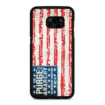 The Purge Anarchy Flag Samsung Galaxy S7 Edge Case
