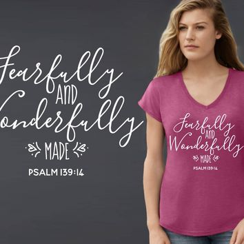 Fearfully and Wonderfully Made T-shirt | Christian T shirt