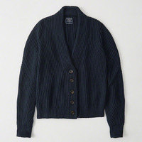 Womens Cropped Rib Cardigan | Womens New Arrivals | Abercrombie.com