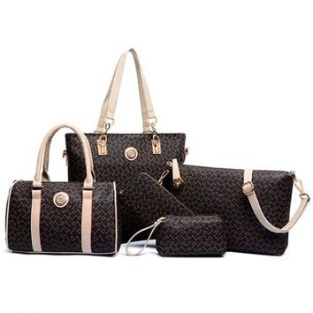 Stylish PU Leather and Arrow Print Design Women's Shoulder Bag