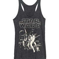 Charcoal Star Wars Poster Tank - Juniors | zulily