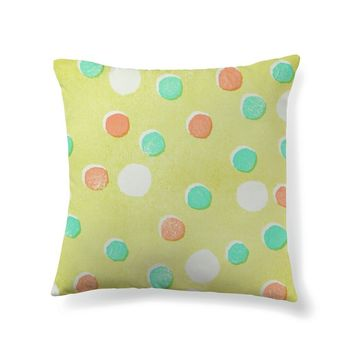 Playful polka dots on chartreuse