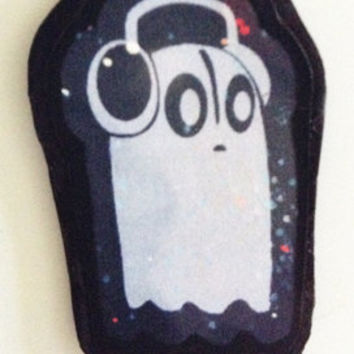 Napstablook Fridge Magnet - Undertale Fanart - Water-Resistant Ghost Magnet Sealed in Packaging - Galaxy, Nebula, Space, Stars, Night Sky