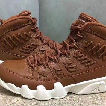 [Free Shipping ]Air jordan 9 Baseball Glove Limited Color Brown Sneaker