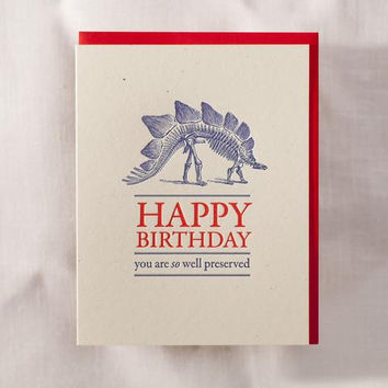 So Well Preserved Dinosaur Birthday Card